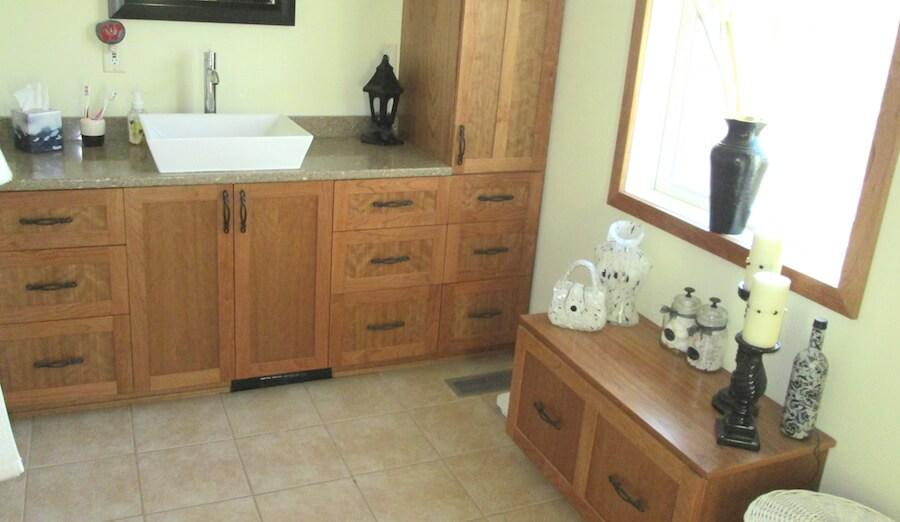 & Custom Bathroom Cabinets | Steveu0027s Custom Cabinets | Mason WI